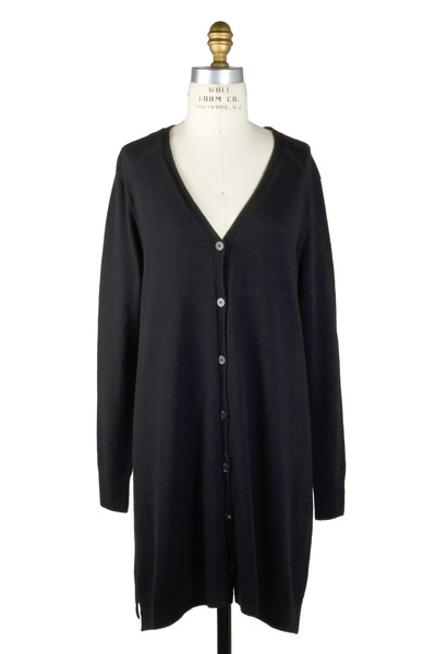 The Row - Letty Black Cashmere Cardigan