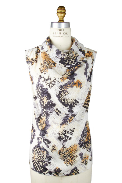 Kiton - White Multicolor Blouse