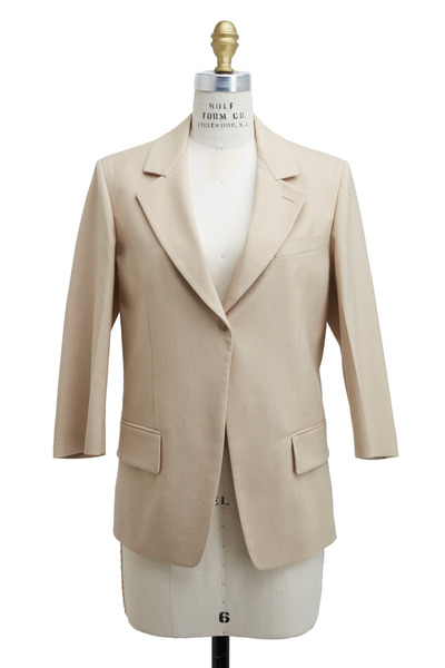 Agnona - Beige Cotton Panama Jacket