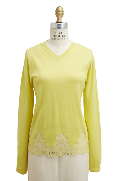 Valentino - Yellow Cashmere & Silk Sweater