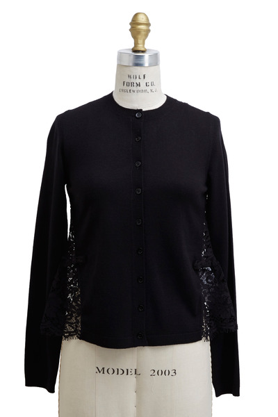 Valentino - Black Lace Cardigan