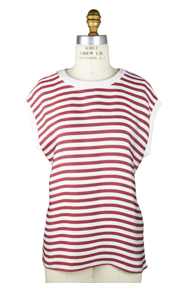 Red & White Top