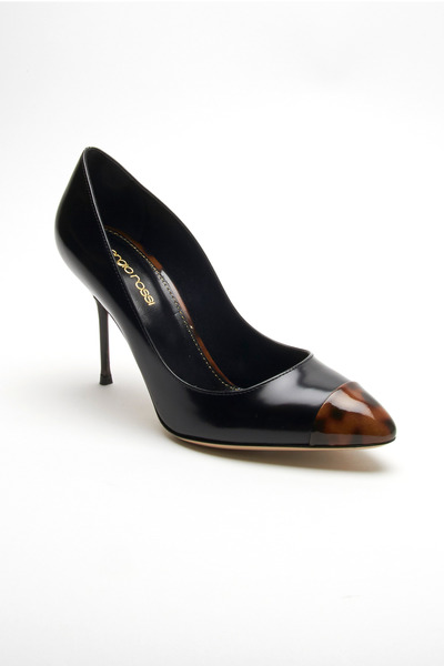 Sergio Rossi - Lady Jane Black & Tortoise Cap Toe Pumps