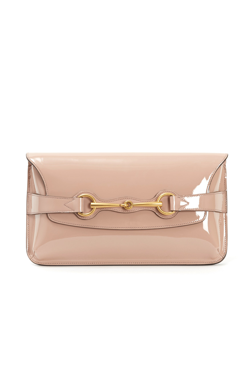Light Pink Leather Clutch