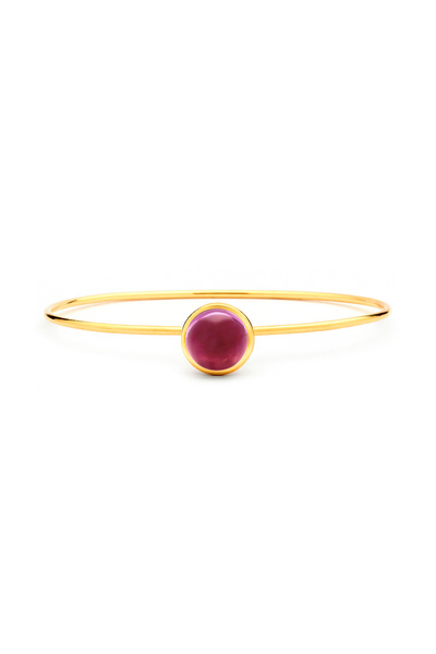 Syna - Rubellite Stacking Bauble Bracelet