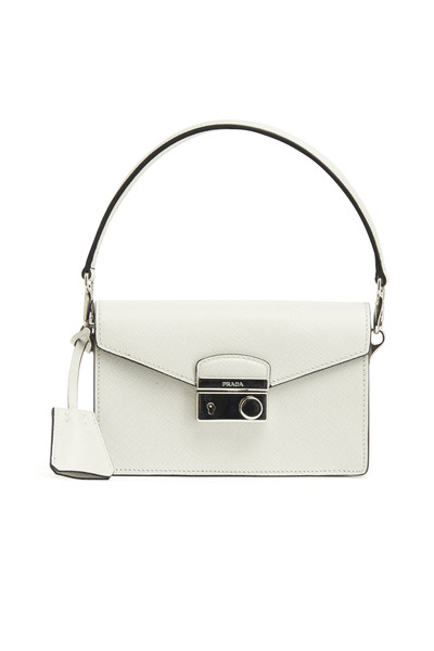 Prada - Chalk Saffiano Sport Mini Sound Crossbody Handbag