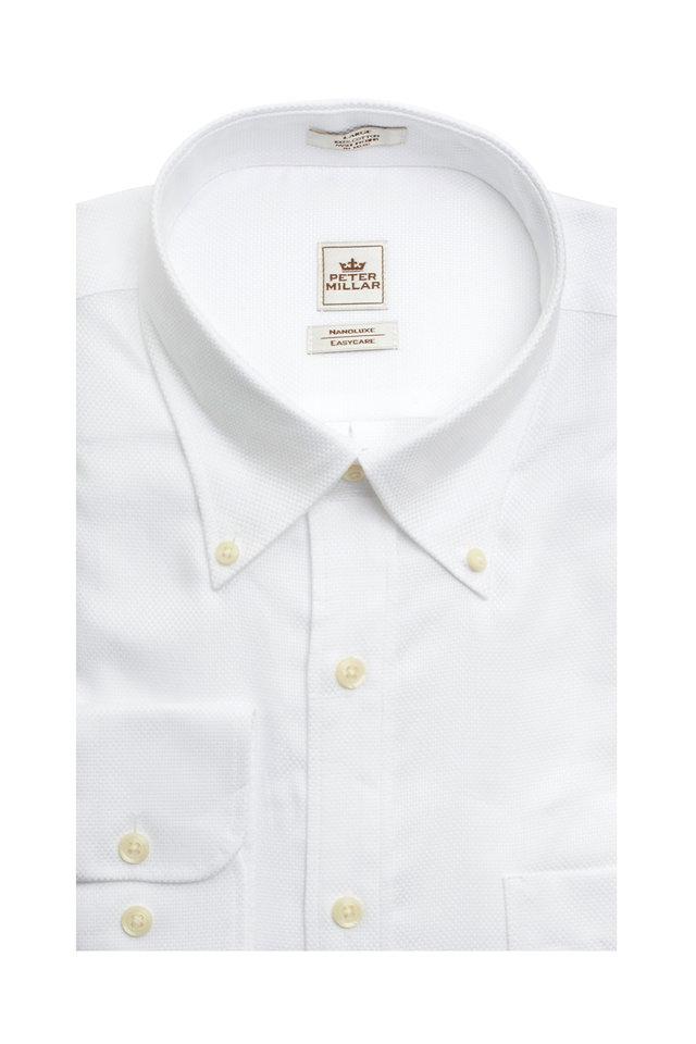 Basic Royal Oxford White Sport Shirt