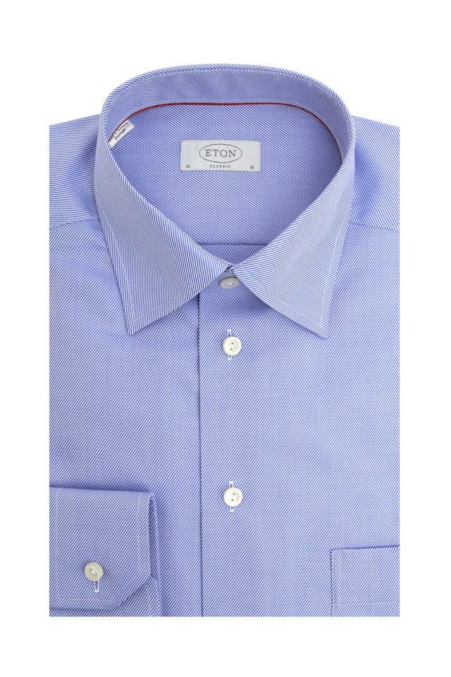 Royal Blue Twill Classic Fit Dress Shirt