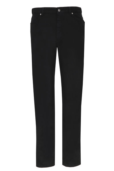 Ermenegildo Zegna - Black Stretch Cotton Five Pocket Pants