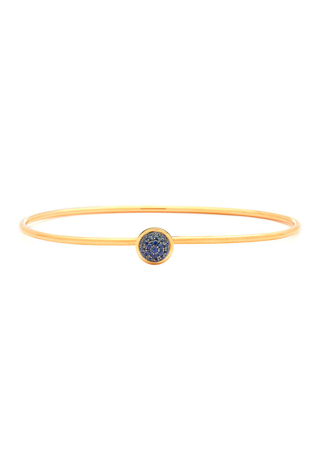 Baubles Yellow Gold Blue Sapphire Stack Bracelet