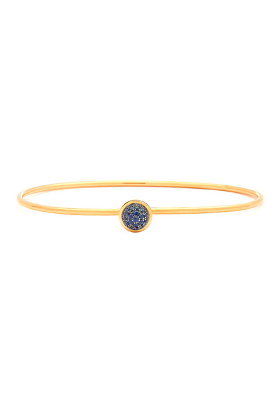 Syna - Baubles Yellow Gold Blue Sapphire Stack Bracelet