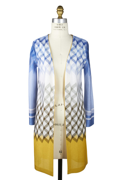 Missoni - Blue Rayon Knit Cardigan