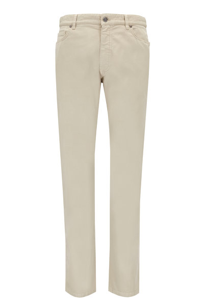 Ermenegildo Zegna - Beige Stretch Cotton Five Pocket Pant