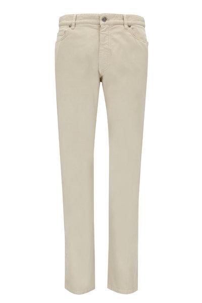 Ermenegildo Zegna - Beige Stretch Cotton Five Pocket Pant
