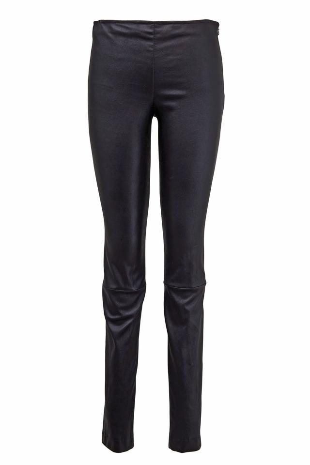 Black Leather Moto Pants