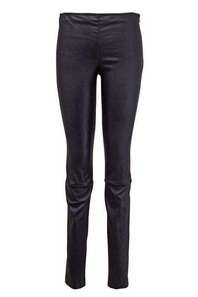 The Row - Black Leather Moto Pants