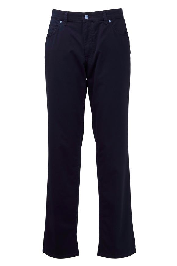 Hiltl Dude Navy Blue Stretch Cotton Five Pocket Pants