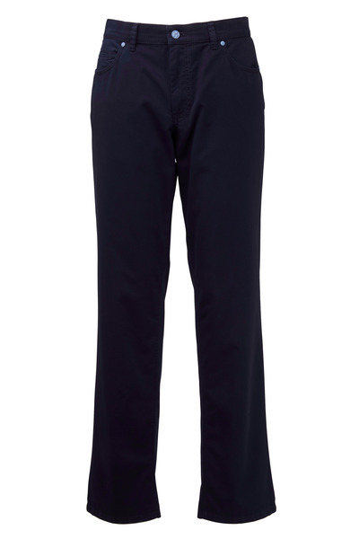 Hiltl - Dude Navy Blue Stretch Cotton Five Pocket Pant
