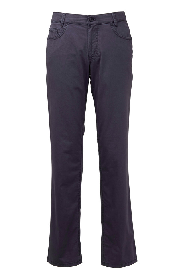 Dude Gray Stretch Cotton Five Pocket Pant