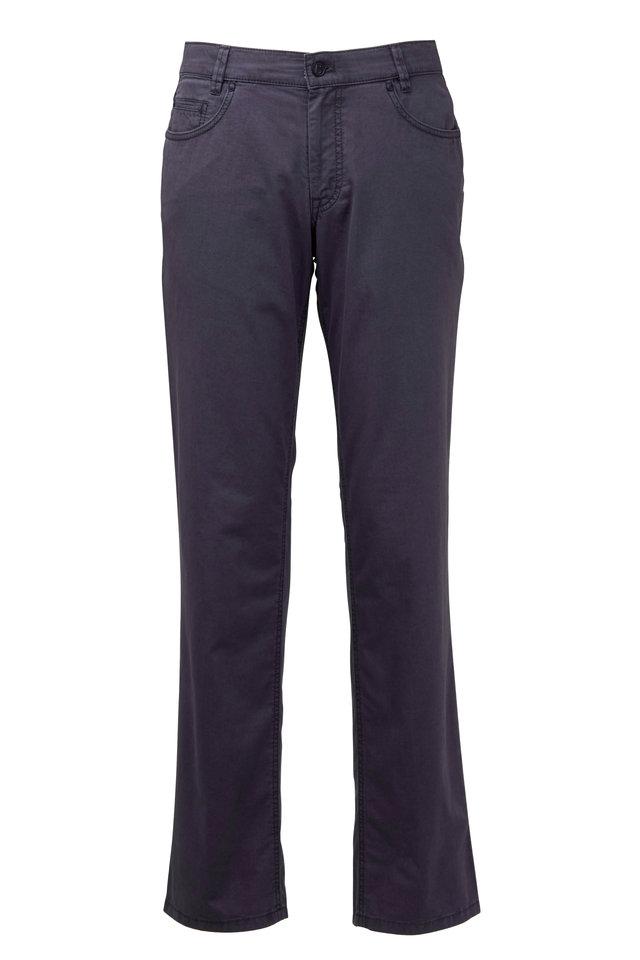 Dude Gray Stretch Cotton Five Pocket Pant