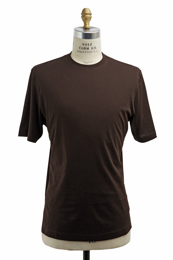 Left Coast Tee Chocolate Cotton T-Shirt