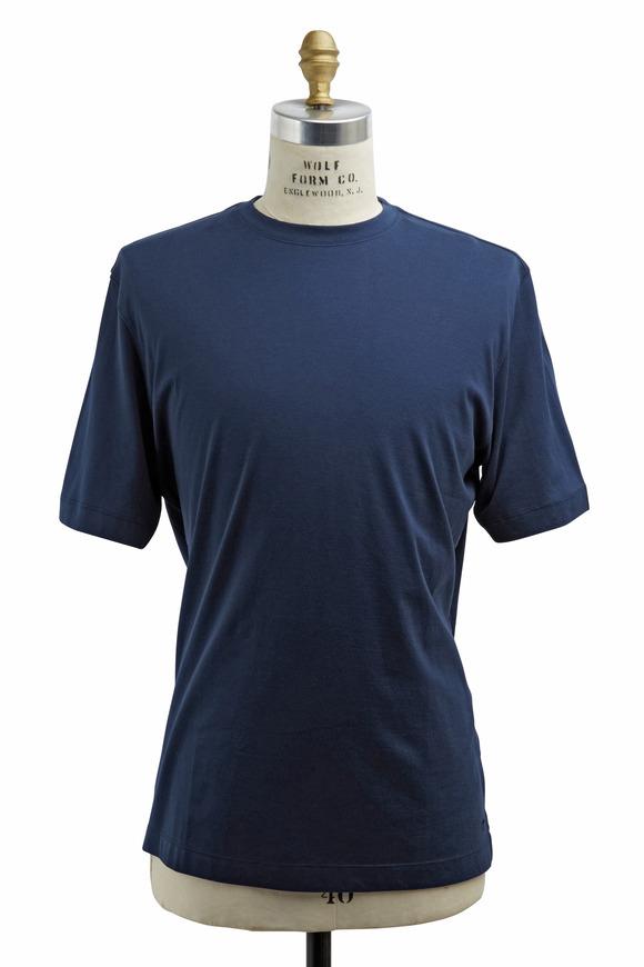 Left Coast Tee Navy Blue Cotton T-Shirt
