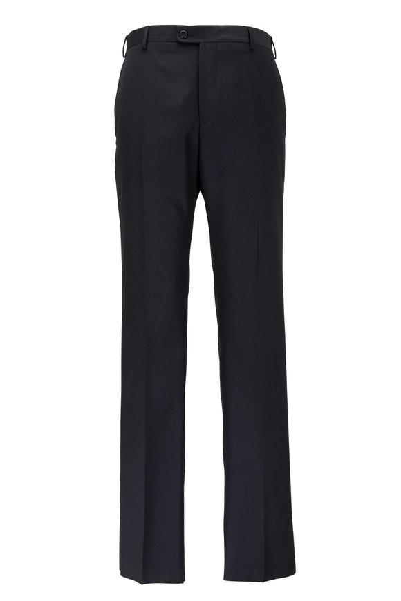 Zanella Devon Black Super 120's Wool Pants