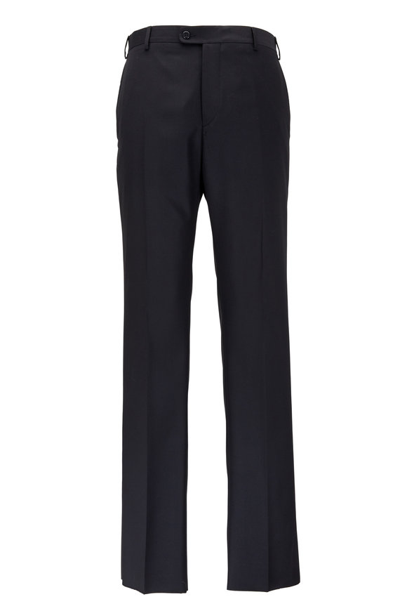 Zanella Devon Black Super 120's Wool Pant