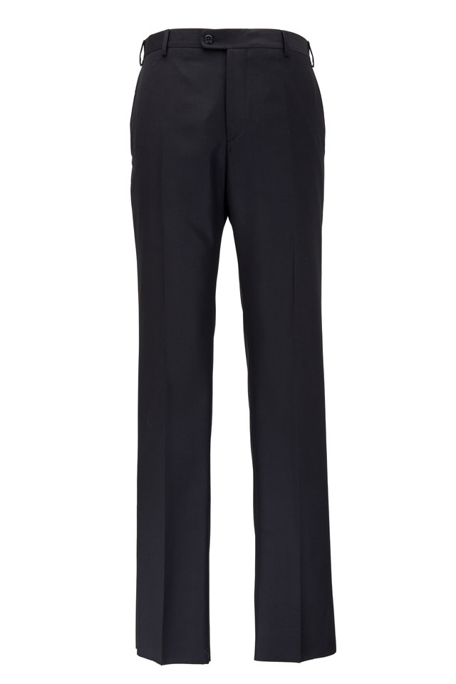 Devon Black Super 120's Wool Pants