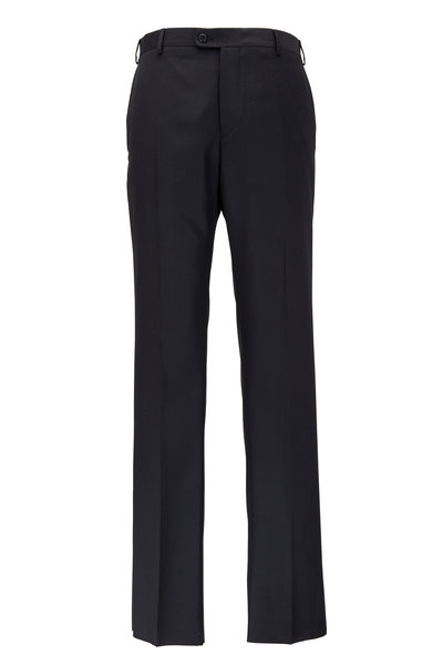 Zanella - Devon Black Super 120's Wool Pant