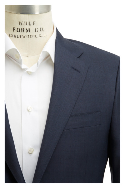 Hickey Freeman - Navy Blue Wool Suit