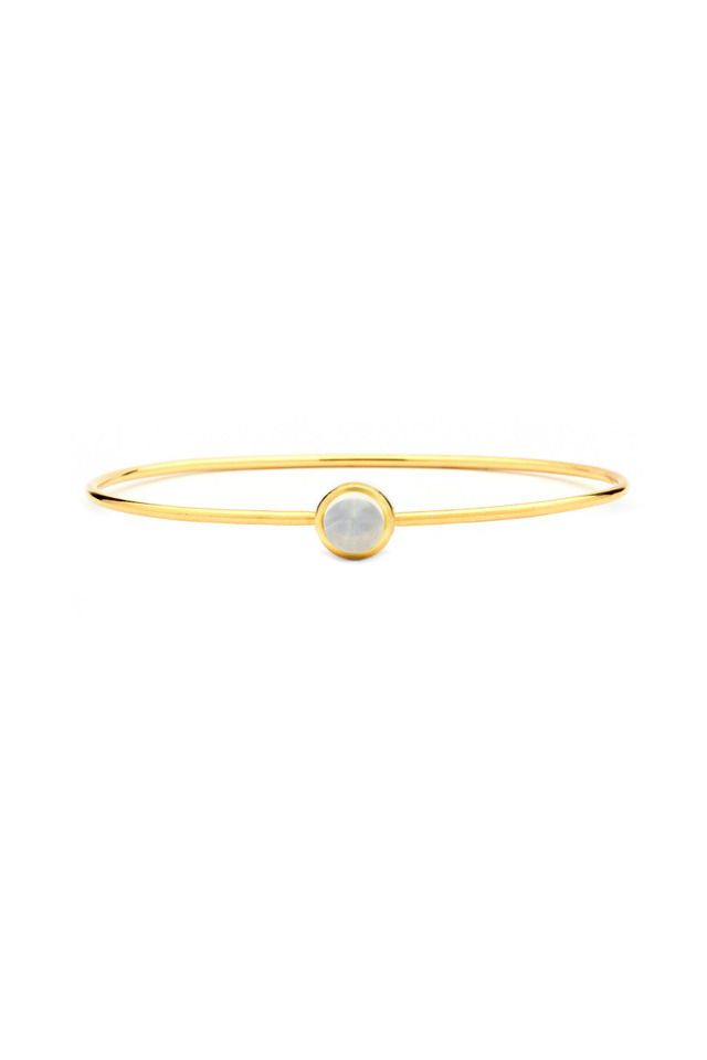 Baubles Yellow Gold Moon Quartz Bangle