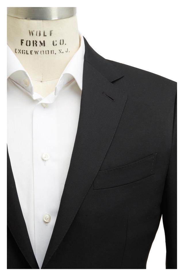 Black Worsted Wool Suit