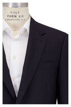Canali - Solid Navy Blue Wool Sportcoat