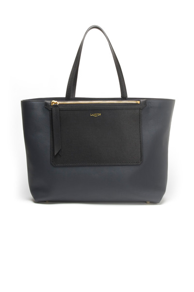Lanvin - Blue Grey East West Leather Tote