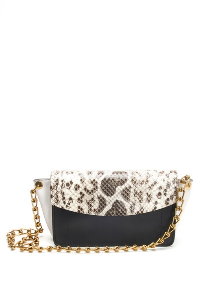 Reed Krakoff - Anarchy Black, White & Anaconda Shoulder Bag