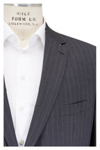 Ermenegildo Zegna - Charcoal Gray Striped Worsted Wool Suit