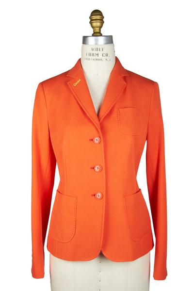 Bogner - Adeline Orange Birdseye Blazer