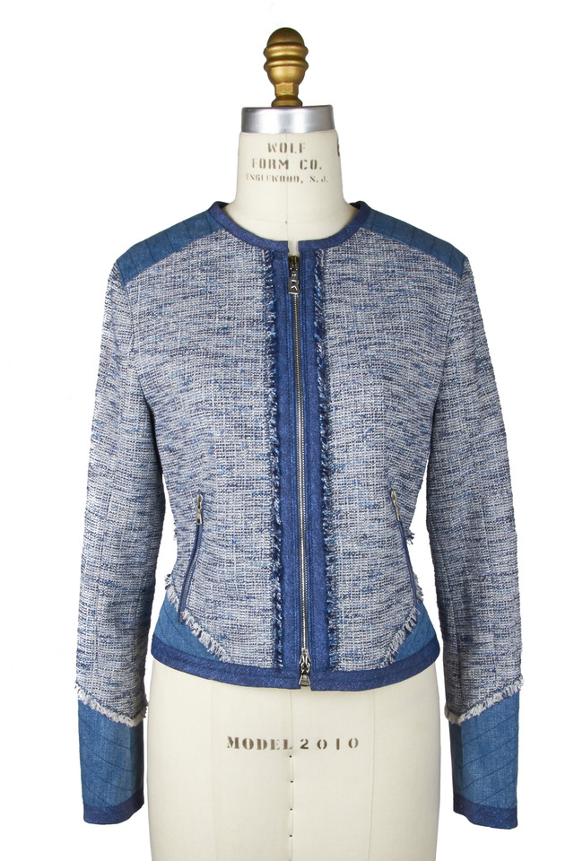 Starlet Light Blue Tweed Denim Jacket