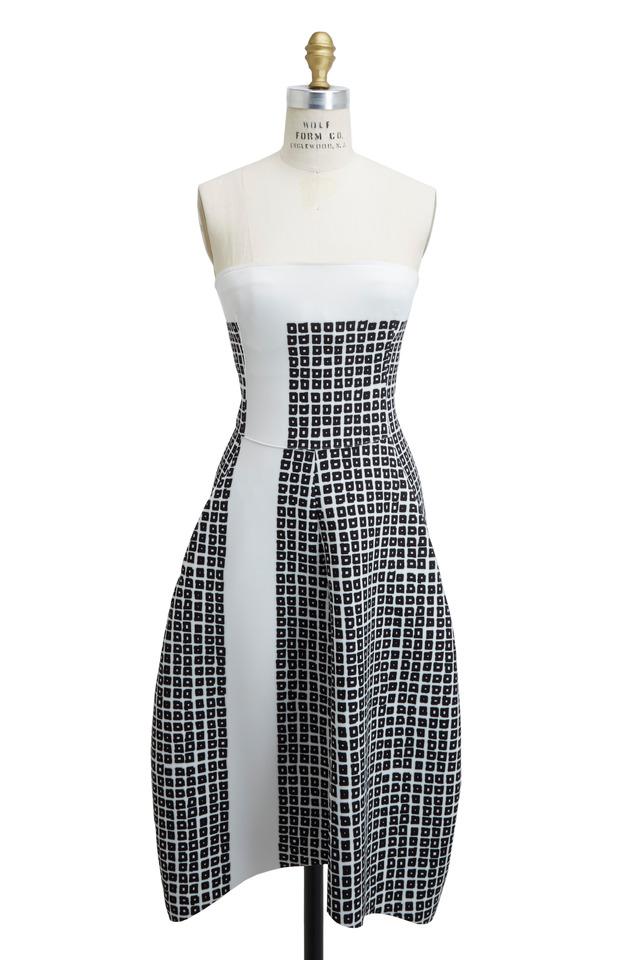 Black & White Scuba Dress