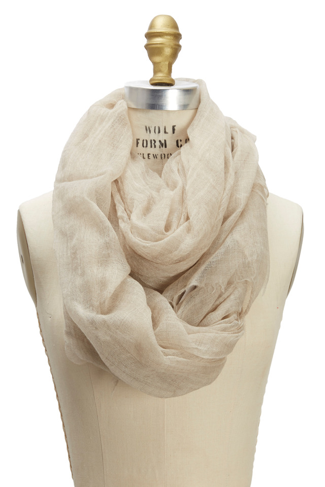 Felted Print Cashmere Scarf