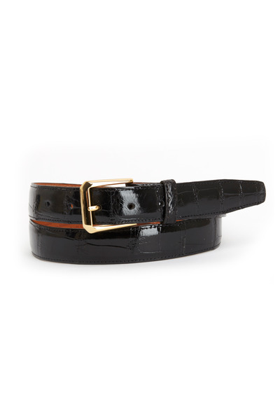 Trafalgar - Classic Black Alligator Belt