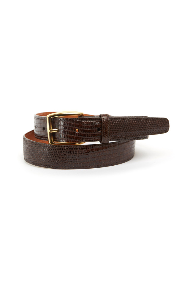 Windsor Dark Brown Lizard Belt