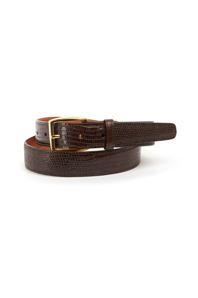 Trafalgar - Windsor Dark Brown Lizard Belt