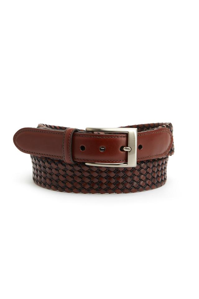 Black & Cognac Kipskin Belt