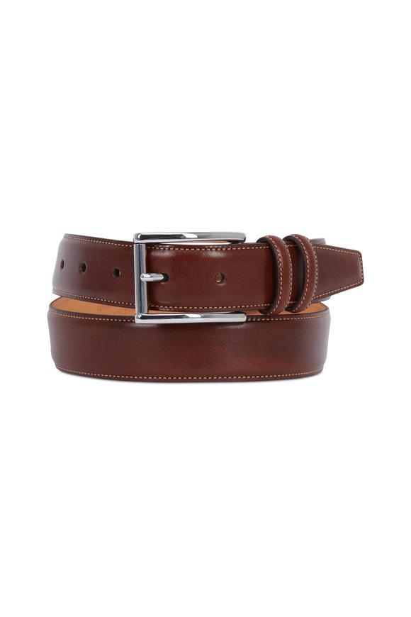 Trafalgar Lorenzo Honey Maple Leather Belt