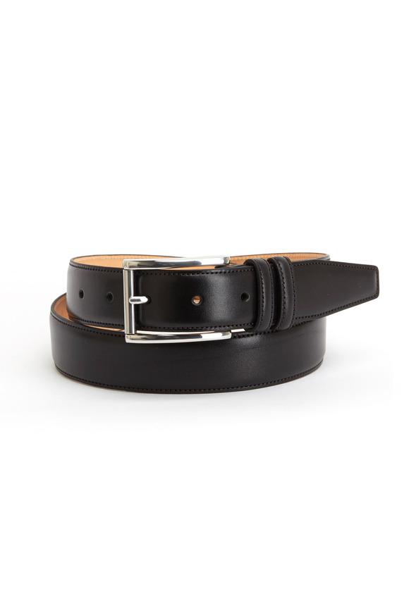 Trafalgar Lorenzo Black Leather Belt
