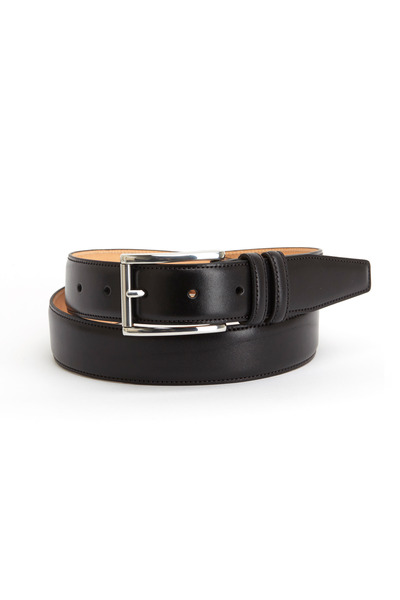 Trafalgar - Lorenzo Black Leather Belt