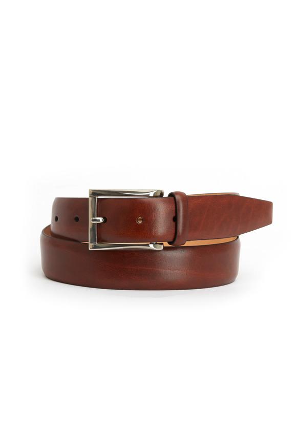 Trafalgar Broderick Honey Maple Leather Belt
