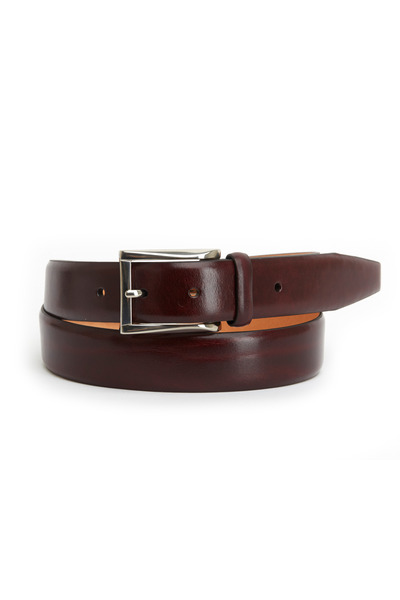 Trafalgar - Broderick Burgundy Leather Belt